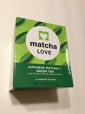 Matcha Love Japanese Matcha + Green Tea, 10 Tea Bags Make In Japanese Exp: $2021
