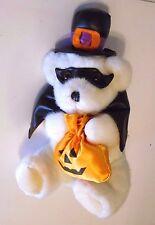12 In White Bear Plush Halloween CostumeTrick or Treat Sign Decoration