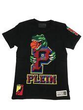 Philipp PLEIN T-shirt grande girocollo Mulberry Nero Taglia L