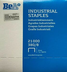 21000 BeA 380/08 Tackerklammern Heftklammern Tacker Klammern 8 mm - verzinkt