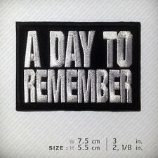 A DAY TO REMEMBER Embroidered Patch Accessories Decorate D.I.Y Clothes T Shirt