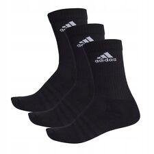 adidas Socks 3s Performance Crew HC 3 Pairs Black US 9-12