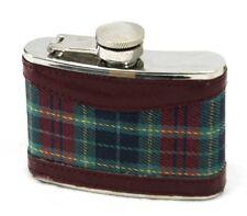 Scottish Tartan Hip Flask - 4 oz - NEW - Fast Shipping!