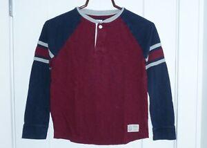 Gap Kids Boys Long Sleeve Baseball Style Burgundy T Shirt Size L (10)