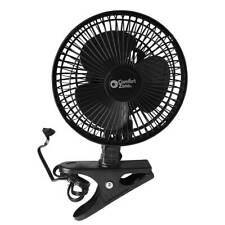 Clip On Electric Fan 6 Inch Mini 2 Speed Adjustable Tilt Comfort Zone New Black