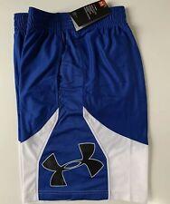 Under Armour UA Woven MEN'S SZ L Athletic Basketball Shorts Blue 1293955-400 Net
