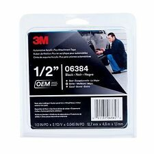 3M 06384 Automotive Acrylic Plus Attachment Tape Black 45 mil (1/2 in x 5 yd)