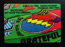 Grateful Dead Backstage Pass Speedboat Puzzle Piece New York Nassau 3/12/1992 NY