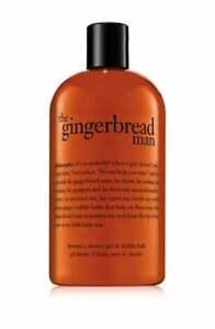 Philosophy Gingerbread Man Shower Gel Shampoo & Bubble Bath 16 oz Sealed