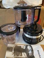 KitchenAid RKFC3516OB 3.5 Cup Mini Food Processor,  Black. New ONLY OPEN BOX