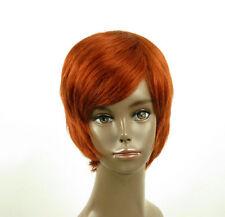 perruque afro femme 100% cheveux naturel courte cuivré intense ref LAET 03/130