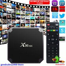 Android 9.0 Smart Tv Box S905W Quad Core Hdmi Media Player 4K 3D Movies Films Us