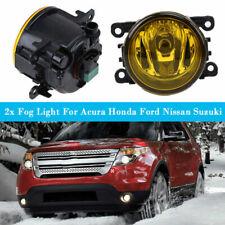 Pair Fog Light Lamp H11 Bulb Yellow Left RH Fit Acura Honda Ford Nissan Suzuki