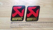 2X AKRAPOVIC Metal Exhaust Can Sticker Heat Proof Kawasaki Yamaha R1 Ninja CBR