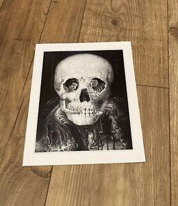 "Optical Illusion Skull, ""Macabre Goth Victorian"" Art Print....10 x 8...NEW"