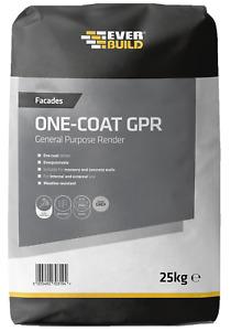 Everbuild One-Coat General Purpose Render 25kg – Grey External Render