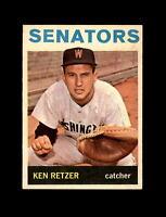 1964 Topps Baseball #277 Ken Retzer (Senators) EXMT