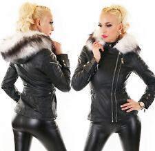 Giacca giaccone donna ecopelle interno pelo pelliccia sintentica #eBayDonaPerTe
