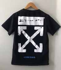 Virgil Abloh Seeing Things Shirt Main Label 2013 Black Off White XS S
