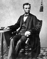 New 8x10 Photo: President Abraham Lincoln Prior to Gettysburg Address, 1863