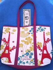 EXCLUSIVELY LANCOME atelier lze Larg LINED Tote Bag-Eiffel Tower Paris-LUSH ROSE