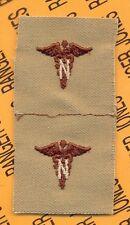 US Army Nurse Corps Branch Desert DCU sew on patch set