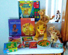 Lion King Lot Movie Theater books Plushes Games GBC Cd Puzzle Timon Simba +