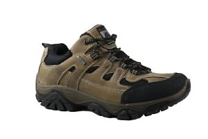 Imac Italia Brown/Black leather laced hiking shoe. EU40 & 41. MADE IN ITALY