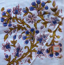Indian Hand Block Print Running Loose Cotton Fabrics 3 Yard Floral Printed