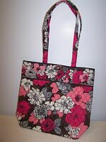 Nwt Vera Bradley Mocha Rouge Tote Bag Purse 10449-110