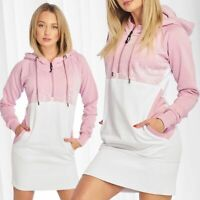 DNGRS Pull pour Femme Robe Manches Longues Fawn Chemise Hoody Jumper Dress