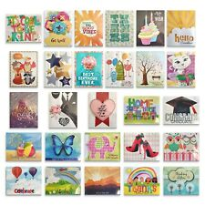 35 All Occasion Greeting Cards Asst Handmade Boxed Set Embellished Unique Design