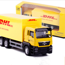 MAN Group DHL 1:64 Model Cars Toys Alloy Diecast Gifts&Collection Yellow In Box