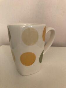 Ikea Bonor Mugs, 4 Set White, Coloured Circle Pattern New