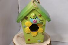 Collections Resin Flower Birdhouse, 8-Inch Tall