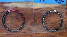 = 2pcs BEZEL Insert Black & Pepsi made for SEIKO DIVER 4205-015X Medium New
