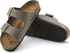 Mens Birkenstock Arizona Stone Flat Twin Strap Footbed Sandals Shoes Size UK 11
