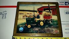RACING REFLECTIONS PITCHING IN by Donald Zolan JOHN DEERE TRACTOR  WOODEN BASE