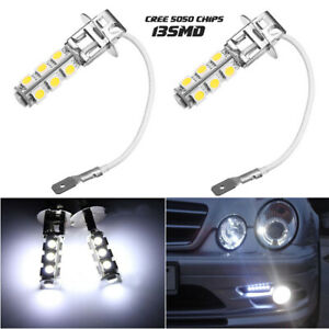 H3 LED Fog Lights DRL Driving lights 6000K Xenon White Replacement Bulbs