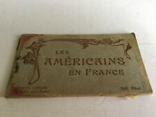 More details for rare ww1 book of 10x postcards of les americains en france , americans in france