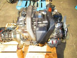 JDM Toyota 4 Runner Highlux Surf 1KZTE Turbo Diesel Engine 4X4 MT Transmission
