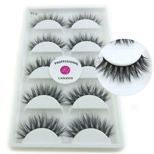 A14 Long Handmade Reusable LASGOOS Degisn Real Mink Volume 3D False Eyelashes