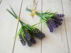 Bunch of Artificial Lavender x 6 stems 18cm and 24 cm long