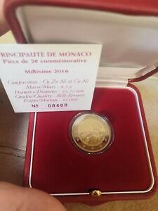 2 Euros Monaco 2016 Commémorative