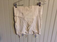 Classic Very Vintage Carmen hook eye open bottom girdle w/ garters corset med?