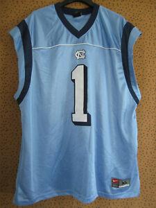 Maillot North Carolina Tar Heels #1 Bleu Football Americain Nike Jersey - XL