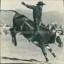 Man Rides a Bucking Bull Original Photo