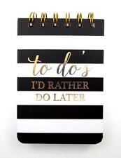 "GRAPHIQUE de FRANCE Notebook ""To Do's I'd Rather Do Later"" 100 Lined Pages ~ New"