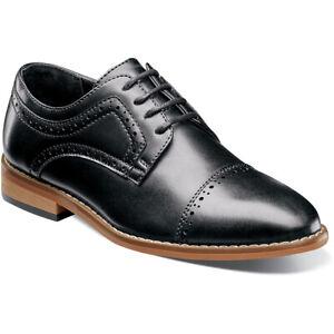 Stacy Adams Dickinson Boy's Oxford Cap Toe Black Dress Shoes 43418-001