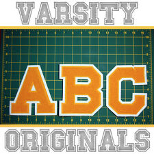 Chenille Varsity Letter Patches A-M (12 Colors) School Letter Patch MADE IN USA.